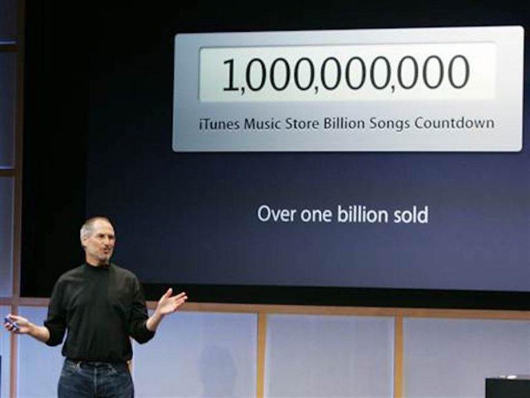 itunes one billion songs on 2006