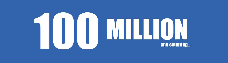 100 million views
