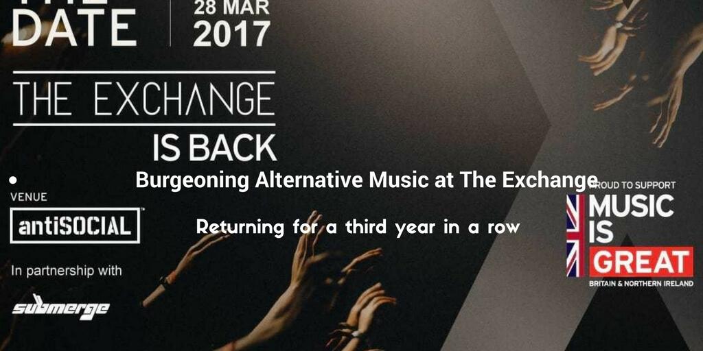 Burgeoning Alternative Music at The Exchange